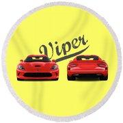 Viper Round Beach Towel by Mark Rogan