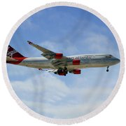 Virgin Atlantic Boeing 747-443 Round Beach Towel