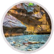 Virgin River Narrows Round Beach Towel
