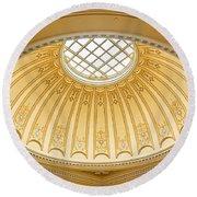 Virginia Capitol - Dome Profile Round Beach Towel
