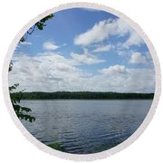 Virginia Lake Round Beach Towel