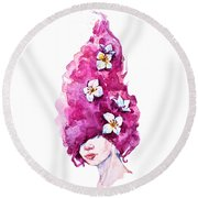 Virgo Round Beach Towel