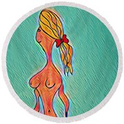 Virgy Round Beach Towel