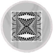 Virtual Illusion-mindset Round Beach Towel
