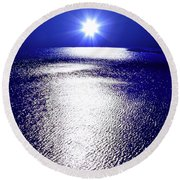 Virtual Sea Round Beach Towel