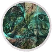 Virulent Germination Round Beach Towel