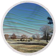 Visible Chill Round Beach Towel