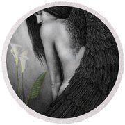 Visible Darkness Round Beach Towel by Pat Erickson
