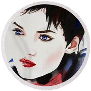Vision Of Beauty Round Beach Towel