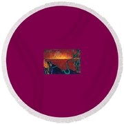 Vision Quest Round Beach Towel