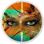 Round Beach Towel featuring the digital art Vision by Shadowlea Is