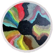 Visions Of Color Round Beach Towel