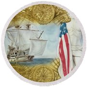Visions Of Discovery Round Beach Towel