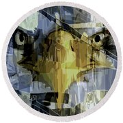 Visions Of Gold Round Beach Towel