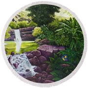 Visions Of Paradise X Round Beach Towel