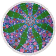 Visions Of The Amethyst Beyond  Round Beach Towel