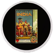 Visit India The Great Indian Peninsula Railway II 1920s A R Acott Round Beach Towel