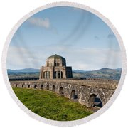 Vista House At Crown Point Round Beach Towel