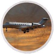 Vista Jet Bombardier Challenger 300 3 Round Beach Towel