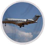 Vista Jet Bombardier Challenger 300 4 Round Beach Towel