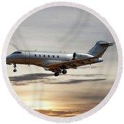 Vista Jet Bombardier Challenger 300 Round Beach Towel