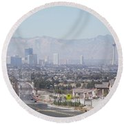 Vista Vegas Round Beach Towel