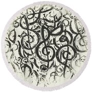 Visual Noise Round Beach Towel