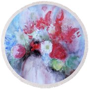 Round Beach Towel featuring the painting Vitality Still Life by Jasna Dragun