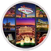 Viva Las Vegas Collection Round Beach Towel
