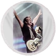 Vivian Campbell - Campbell Tough Round Beach Towel by Luisa Gatti