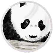Vivi's Pet Panda Round Beach Towel