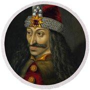 Vlad The Impaler Portrait  Round Beach Towel
