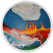 Volcanic Action Round Beach Towel