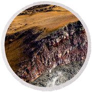 Round Beach Towel featuring the photograph Volcanic Ridge II by M G Whittingham