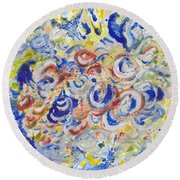 Volcanic Sea Acrylic/water Round Beach Towel