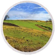 Round Beach Towel featuring the photograph Volcanic Spring by James Eddy