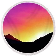 Volcanic Sunrise Round Beach Towel