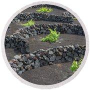 Volcanic Vineyards Round Beach Towel