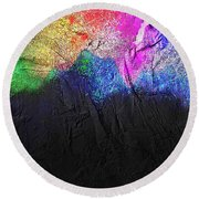 Volcano Round Beach Towel