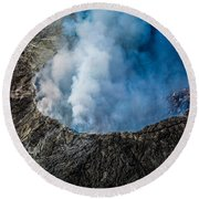 Round Beach Towel featuring the photograph Volcano by M G Whittingham