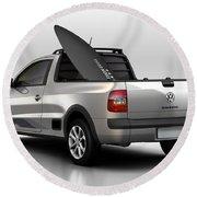 Volkswagen Saveiro Round Beach Towel