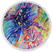 Voltage Round Beach Towel