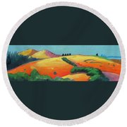 Voluptuous Windy Hill Round Beach Towel by Gary Coleman