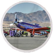 Voodoo Engine Start Sunday Gold Unlimited Reno Air Races Round Beach Towel