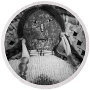 Round Beach Towel featuring the photograph Voodoo Girl by Lynn Sprowl