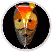 Round Beach Towel featuring the painting Voodoo Martini by David Lee Thompson