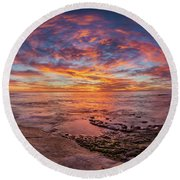 Vortex Round Beach Towel by Peter Tellone
