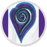 Vortex Wave Round Beach Towel