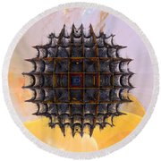Voyager Round Beach Towel by Richard Ortolano