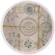 Voynich Astro 3x3 Round Beach Towel